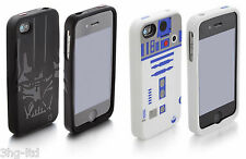 Apple iPhone 4 & 4s Star Wars Darth Vader or R2D2 Phone Case Silicone Rubber New