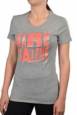 Nike Women's Rare Talent Slim Fit T-Shirt-Gray/Coral