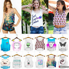 Summer Casual Women Lady Tank Top Vest Blouse Sleeveless Clubwear Crop T-Shirt