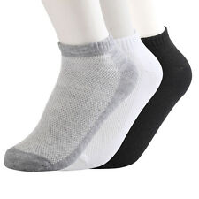 12 Pairs Mens Womens 9-11 10-13 Crew Ankle Cut Sports Socks Black White Gray New