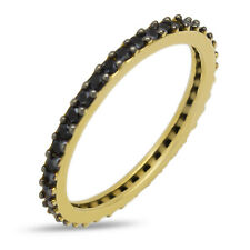 Eternity Ring Solid Yellow Gold 9ct or 14ct Size H to S Stunning Engagement Band