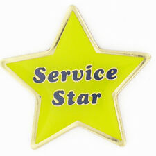 Service Star Yellow and Blue Customer Service Lapel Pin