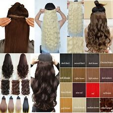 Cheap Price Clip In Hair Extensions Curly Straight Long hairpiece as human dx682