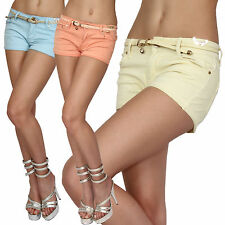 Sexy Shorts Hot Pants + Belt Multicolour Hotpants Women's jeans Low-rise New