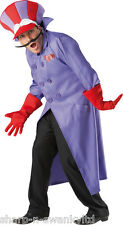 4 Pc Mens Dick Dastardly Wacky Races 1960s Fancy Dress Costume Outfit STD & XL