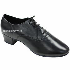 TPS Men's High Quality Black Lether Latin Ballroom Dance Shoes All Sizes M45