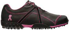 Ladies FootJoy M Project Golf Shoes Black/Pink Ribbon 95663 Womens CLOSEOUTS New