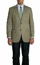 Tasso Elba Classic Fit Khaki Textured Two Button Silk Blend Blazer Sportcoat