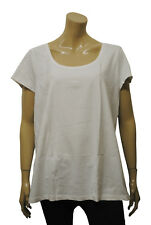 Womens H&M T-Shirt Scoop Neck Top White Size 22 to 28 Ladies A18