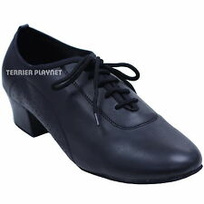 TPS High Quality Black Leather Latin Ballroom Salsa Dance Shoes All Sizes D736