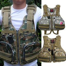 Camping Boat Buoyancy Aid Sailing Kayak Fishing Life Jacket Camouflage 3 Colors