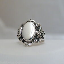 Victorian Scroll Poison Ring - 925 Sterling Silver - Pillbox Poison Ring NEW