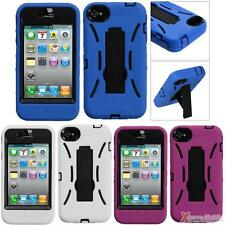 For APPLE iPhone 4/4S Heavy Duty Symbiosis Case Cover With Stand