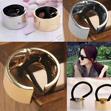 Fashion Punk Rock Metal Circle Ring Hair Cuff Wrap Ponytail Holder Band 2 Colors