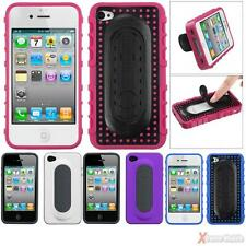 Tail Stand Snap-on Hard Phone Case Cover For APPLE iPhone 4/4G/4S