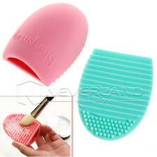 1x Brushegg Pinselreinigung Make-up Reinigungstool Brush Cleaning Blau & Rosa