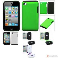 For APPLE iPod Touch 4 Solid Fusion Silicone/Hard Shell Case Cover
