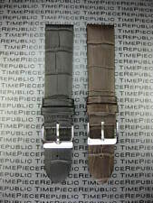New 20mm Alligator Grain Leather Black Brown Strap Watch Band MOVADO 20