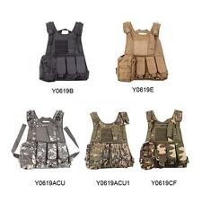 Outdoor Tactical Military Law Paintball Police Vest w/ Pistol Holster