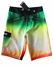 Hurley Kids Boys Board Shorts Surf Swim Trunks Rasta Boardshort