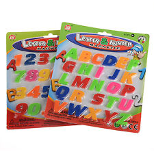 26/52PC Magnetic Letters Numbers Alphabet Capital Lower Case & Vegetable Magnets