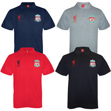 Liverpool Football Club Official Soccer Gift Mens Crest Polo Shirt