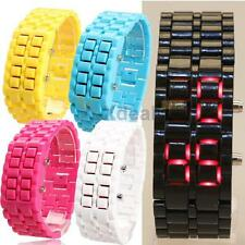 Men Women Lava Samurai Iron Watch LED Digital Faceless Bracelet Jelly Wristwatch