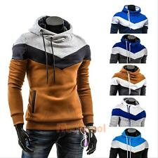 New Mens Stylish Casual Slim Fit Pocket Hoodies Coats Jackets Tops Sweatshirt