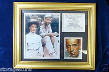 """Framed and matted """"The African Queen"""" collage of photos, information panel.."""