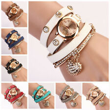 New Heart Pendant Bracelet Wristwatches Women Dress Watch Analog Quartz WATCHES