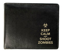 Personalised Mens Leather Wallet - Shoot Zombies Design
