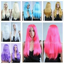 Fashion Women Long Straight Anime Cosplay Sexy Ladies Healthy Natural Hair Wigs