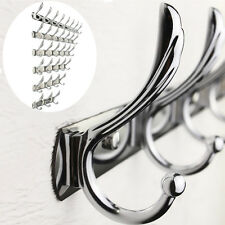 Wall Door Bathroom Bedroom Mounted Hanger Metal Chrome Hooks Coat Hat Towel Rack