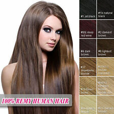 "15""18""20""22""24""26""28"" 7PCS Remy Clip In Human Hair Extensions Full head cheap"