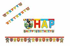 JOINTED BIRTHDAY BANNER - MICKEY MOUSE Designs (Party/Kids/Birthday/Decoration)