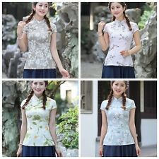Chinese Traditionary Style Women's Girl Casual Shirt Blouse Tops S M L XL XXL 3X