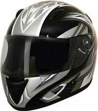 HCI Silver Blade Full Face Motorcycle Helmet Fully-Vented ABS Shell 75-756