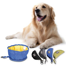 Pat Dog Cat Feeding Foldable Travel Water Bowl Zipper Feeder Drinking Food Dish