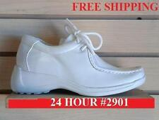 NEW WHITE NURSE SHOE MEDICAL COMFORT 24 HOUR SUPPORT LEATHER LACE UP SIZE 6-12