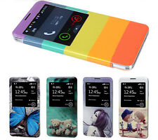 View Open Window Print Flip leather Phone Case Cover For Samsung Galaxy Note 3