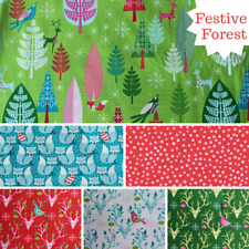 Bundle Michael Miller Christmas Fabric - Festive Forest Tamara Kate  Choose Size