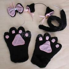 Fancy Dress Cosplay Set Cat/Tiger/Leopard Animal Headband Bowtie Paw Gloves TAIL