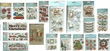 CHRISTMAS Stickers Holiday U Pick Bows Poinsettias Gifts Mistletoe Tree Stocking