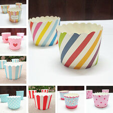 50pc/set Vogue Cake Baking Paper Cup Cupcake Muffin Cases Cups Home Party SP2S