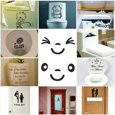 HOT Cute Style Cartoon Toilet Removable Bathroom Decals Vinyl Art Wall Sticker