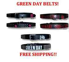 GREEN DAY ROCK BAND BELTS NEW WITH TAGS XTRA LARGE/SMALL BLACK RED PINK
