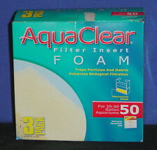 AquaClear Foam Filter Insert 3 Pack {Three Different Sizes}- BRAND NEW (DL)