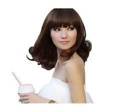 Sexy Ladys Mid-Long Fashion Curly Brown/Black Wigs Party Wave Cosplay Hair Wig