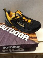 "New! FILA   ""BLOWOUT 4""  OUTDOOR  Black/Gold Mesh  Men's Athletic Shoes  WIDE 4E"