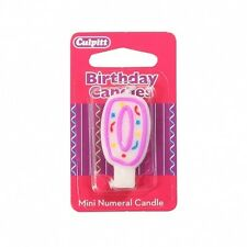 Number Birthday Cake Candles - 40mm - numbers 0,1,2,3,4,5,6,7,8,9